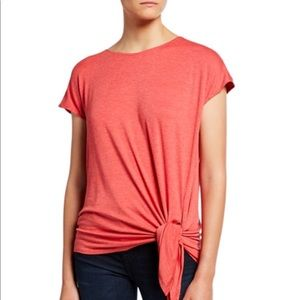 Max Studio Side-Tie Knit Top